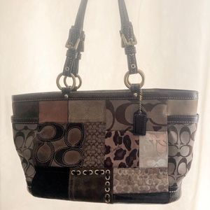 Large Patchwork Coach Tote